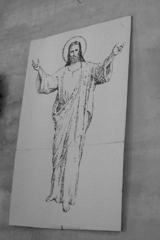 Uskrsli Isus Krist, crtež download besplatne slike pozadine Apple iPhone
