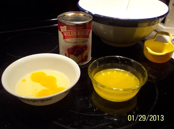 Gather all ingredients. pre-heat oven to 325F. Butter or spray baking pan.