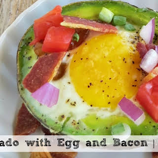 Baked Avocados with Egg and Bacon   A Delicious High Protein Breakfast!.
