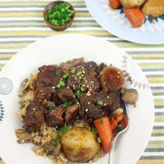 Korean Soy-Braised Beef Shanks.