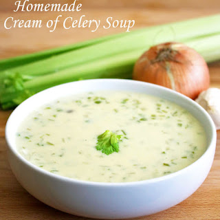 Homemade Cream of Celery Soup.