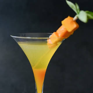 Mango Thai Basil Infused Liqueur Tutorial and Siam Sunset Cocktail.