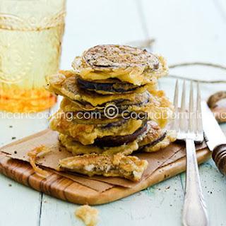 Torrejas de Berenjenas Recipe (Fried Eggplants).