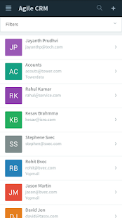 AgileCRM screenshot