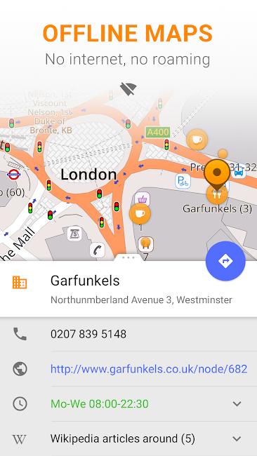 #1. Maps & GPS Navigation OsmAnd+ (Android)