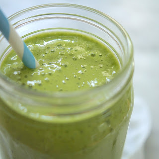 Pineapple Kale Protein Smoothie.
