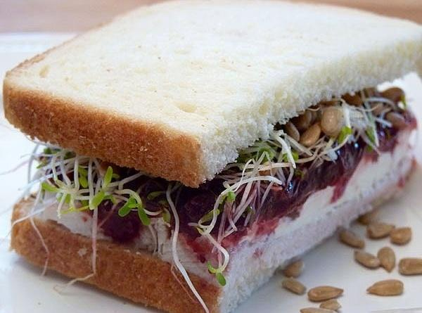 Smear some mayonnaise on bottom bread slice and season with a small amount of...