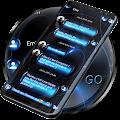 SMS Theme Sphere Blue - black chat text message APK