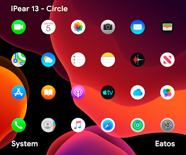 iPear 13 – Round Icon Pack v1.0.7 [Patched] 1