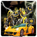 Robot Battle Yellow Car Themes & Live Wallpapers icon