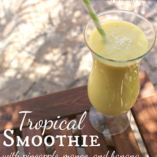 Tropic Smoothie with Pineapple and Mango.