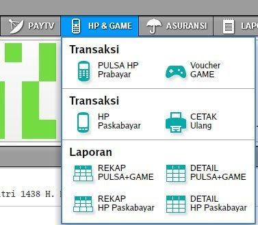 Cara transaksi pulsa dan voucher game online