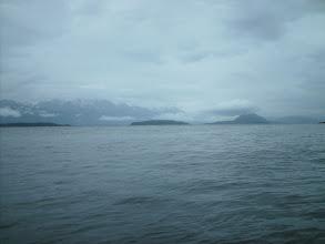 Photo: Looking across Lynn Canal toward Sullivan, Kataguni, Shikosi, and Anyaka Islands.