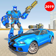 Police Robot Car Rampage: New robot shooting Games