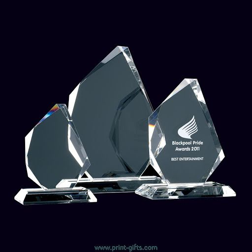 Optical Crystal Prism Engraved Award
