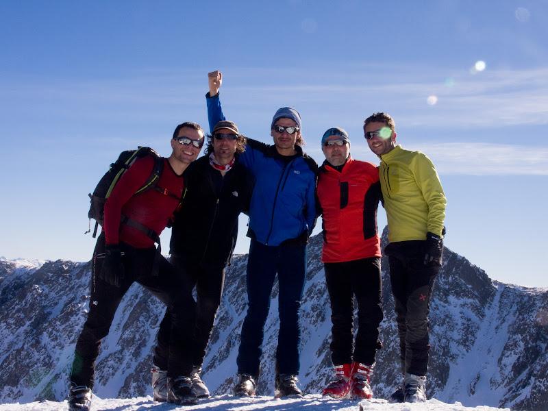 Foto de grup al cim
