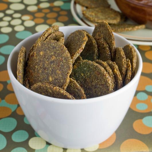 Fast Savoury Flax Crackers Recipe