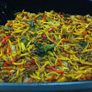Mince and Noodle Stir Fry