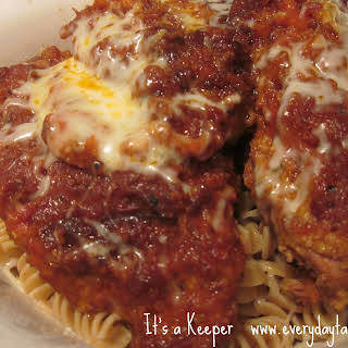 Slow Cooker Chicken Parm.
