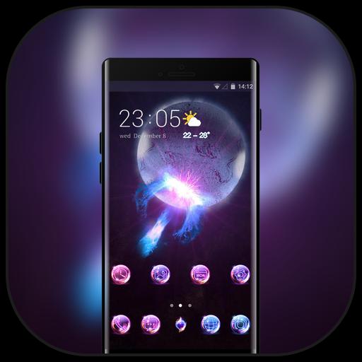 Theme for nokia5.1 plus shining galaxy wallpaper icon