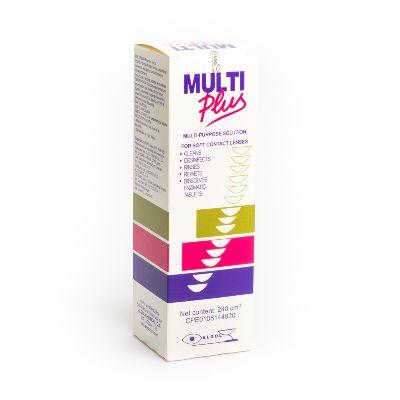 solución limpiadora para lentes multiplus 240 ml