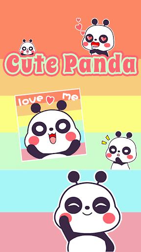 Kika Cute Panda Sticker Gif
