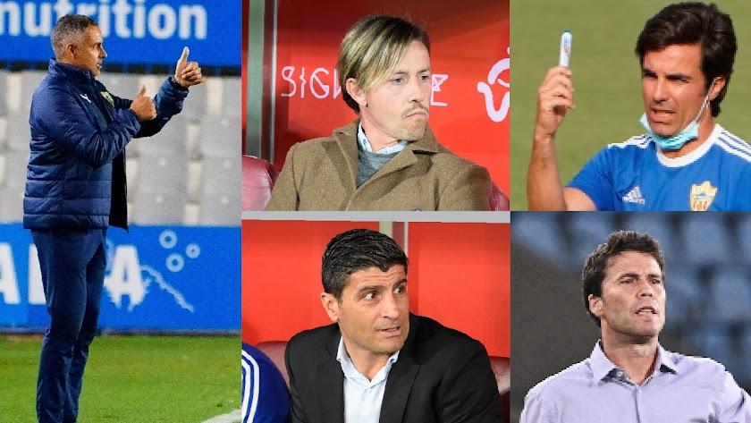 Los cinco entrenadores que han pasado por el banquillo en dos años.
