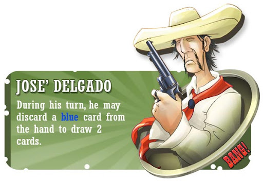 José Delgado BANG! card game character