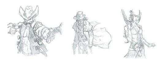Custom BANG! Character Drawings
