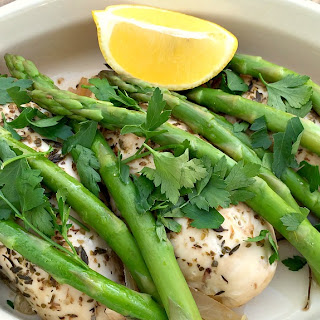 Slow Cooker Lemon and Herb Chicken with Asparagus Recipe