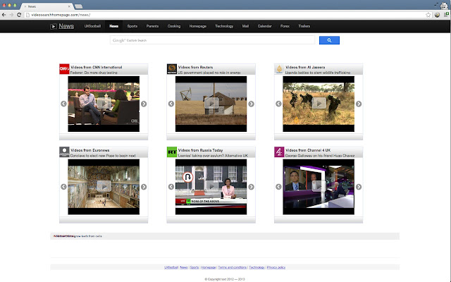 Video Search Homepage