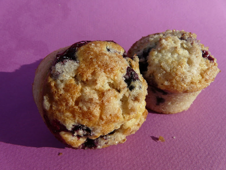 My Best Blueberry or Strawberry / Rhubarb Muffins Recipe