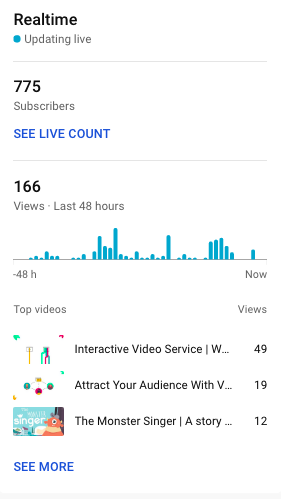 YouTube realtime report