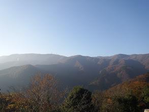 左に藤原岳、右に御池岳