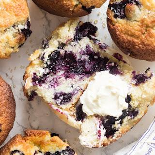Jumbo Blueberry Corn Muffins.