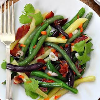 Spicy Thai Bean Salad with Bacon