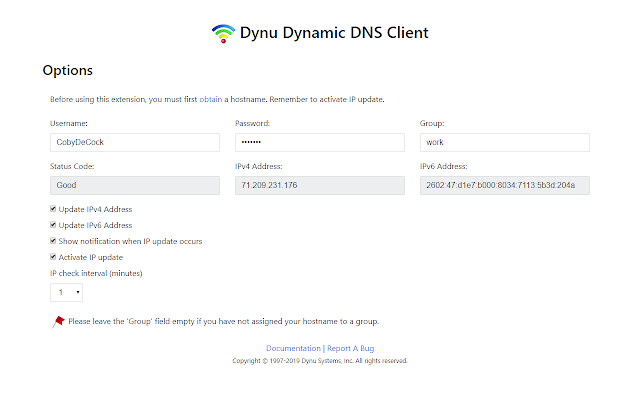 Dynu Dynamic DNS Client