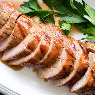 Grilled Pork Tenderloin with Orange Marmalade Glaze.