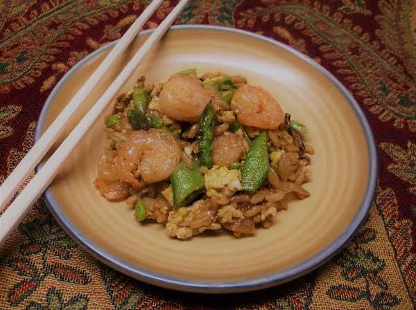 Shortcut Shrimp & Veggie Fried Rice Recipe