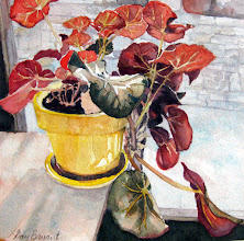 "Photo: Sharon's Begonia.  watercolor.  8""x8"""