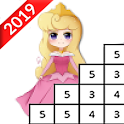 Cute Princess Pixel Art - ColorbyNumber icon