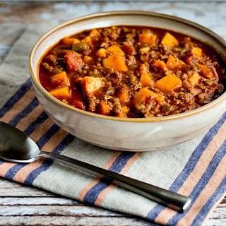 Paleo Turkey Sweet Potato Chili.