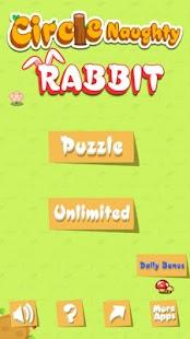 Circle Naughty Rabbit - náhled