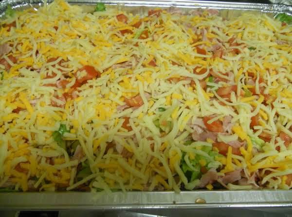 Joy's Italian Sub  7-layer Salad Recipe