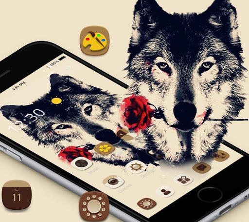 Tattoo Rose Romantic Wolf Theme 1.1.4 screenshots 1
