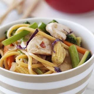 Ginger-plum Chicken And Noodle Stir-fry.