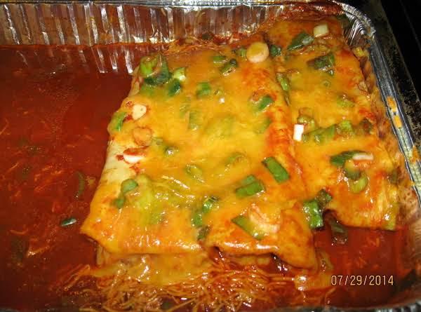 Cheesey Two Bean Enchiladas