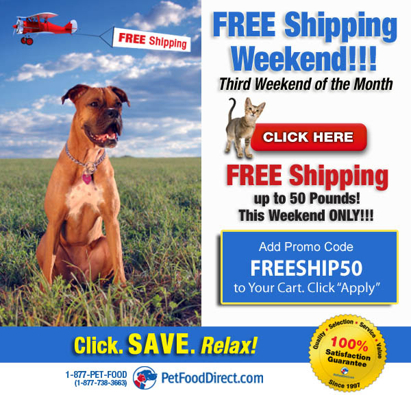 Free Shipping from Pet Food Direct