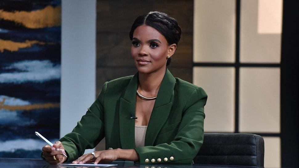 """Host Candace Owens is seen on set of """"Candace"""" on May 10, 2021 in Nashville, Tennessee. The show will air on Tuesday, May 11, 2021. (Photo by Jason Davis/Getty Images)"""