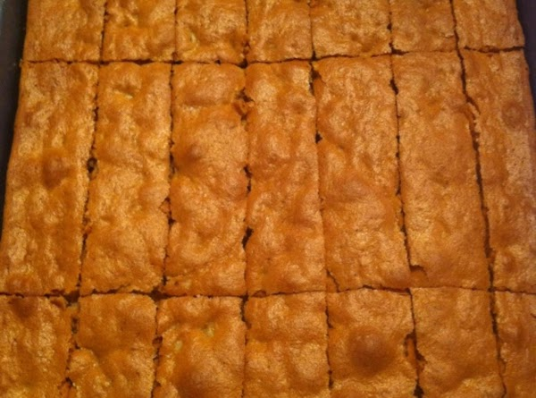 Once cool slice with knife vertically and then horizontally into size desired. Turn oven...